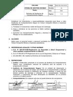 ESG-VOL-GLO-03-01 Estándar de Auditorías de Comportamiento Seguro