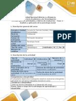 Guía de actividades y rúbrica de evaluación - Fase 4 - Análisis y aplicación de la psicología social (1).docx
