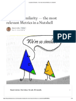 Calculate Similarity — the Most Relevant Metrics in a Nutshell