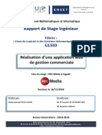 Rapport de Stage - Gestion Commerciale