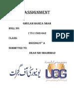 Sir Shamshad Assignment