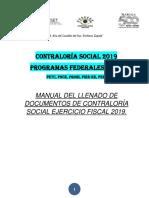 Manual Del Llenado de Formatos Del Ccs Prog. Fed 2019