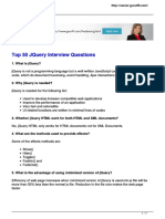 Top 50 Jquery Interview Questions