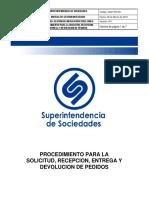 GINF-PR-001 Procedimiento Para La Solicitud, Recepción, Entrega y Devolución de Pedidos