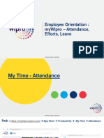 MyWipro Overview - Attendance Efforts Leave