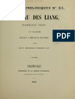 Varietes Sinologiques 33 Tombeau Des Liang
