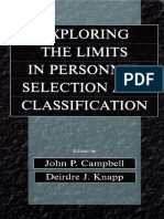 John P. Campbell, Deirdre J. Knapp - Exploring the Limits in Personnel Selection and Classification (2001).pdf
