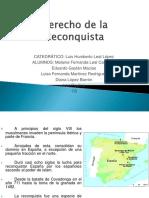 Derecho de La Reconquista Historia 1