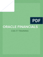 Oracle Financials Functional Consultant Training