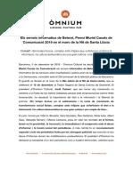 Premi Muriel Casals de Comunicació per a Betevé.