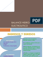 Balance Hidro- Electrolitico