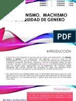 EL FEMINISMO,  Machismo Y LA EQUIDAD DE.pptx