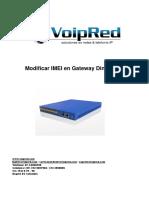 Cambiar IMEI Gateway Dinstar GSM