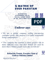 Bcg Matrix of Unilever Pakistan