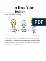 Ways to Keep Your Body Healthy