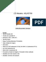 LG Modelo 43LK5700
