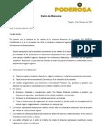 Carta de Gerencia Poderosa s.A