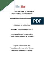 Economia Politica Internacional 2019