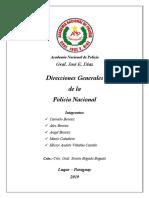 Direcciones Generales de la Policia Nacional Paraguaya
