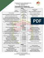Calendario Académico IERPBJ 2019