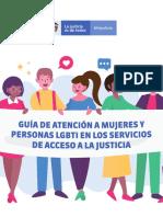 Guia de Atención a Mujeres y Personas Lgtbi en Los Servicios de Acceso a La Justicia