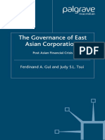 The Governance of East Asian Corporations Post Asi