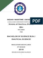 B.Sc nautical science syllabus