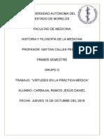 Virtudes en La Práctica Médica