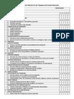 Evaluacion de Proyecto de Trabajo de Investigacion