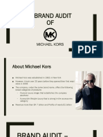 Michael Kors- Brand Audit