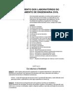 Regulamento dos laboratórios de Engenharia Civil