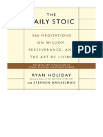 366 Meditations on Wisdom Perseverance,  The Daily Stoic PDF E-Book digitale
