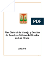 Plan Distrital Los Olivos
