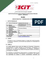 Silabus Comunica Aa Cc i 2019 II