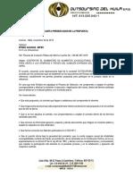 Carta Presentacion Propuesta