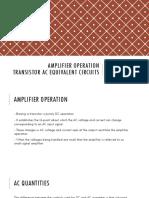Amplifier Operation