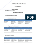 Project Rubric at P3 Level for DLD -EE 223