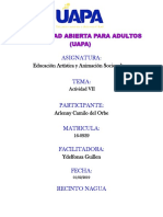 Tarea Vii Educacion Artistica y Animacion Sociocultural