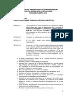 Estatutos Del Sindicato Unico de Trabajadores Del Hospital Miguel Hidalgo.