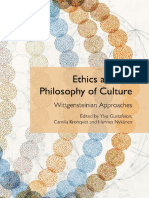 Ethics and the philosophy of culture