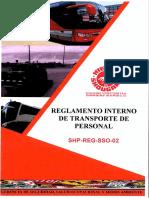 Reglamento Interno de Transporte 2019 - PDF