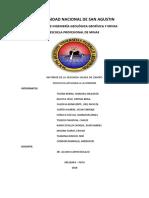 Informe salida de campo geología estructural, UNSA.