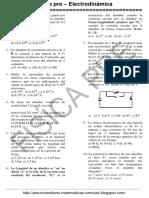 1.1 Fisica Pre - Electrodinamica - Problemas Propuestos