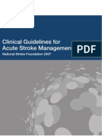 Clinical Guidelines for Acute Stroke Management