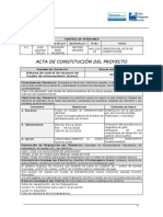 1. Acta de Constitucion de Proyecto