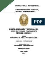 Diseño, Operación y Optimizacion de Sist. Trat. Crudo