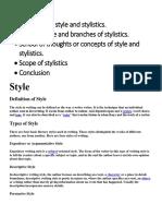 Style and Stylistics