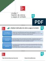 Presentación Unidad 7 Gestión de Cobros y Pagos Al Contado.