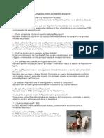 NAPOLEÓN BONAPARTE CUESTIONARIO PDF