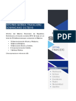 Informe del Sistema Financiero de República Dominicana al mes de Octubre 2019